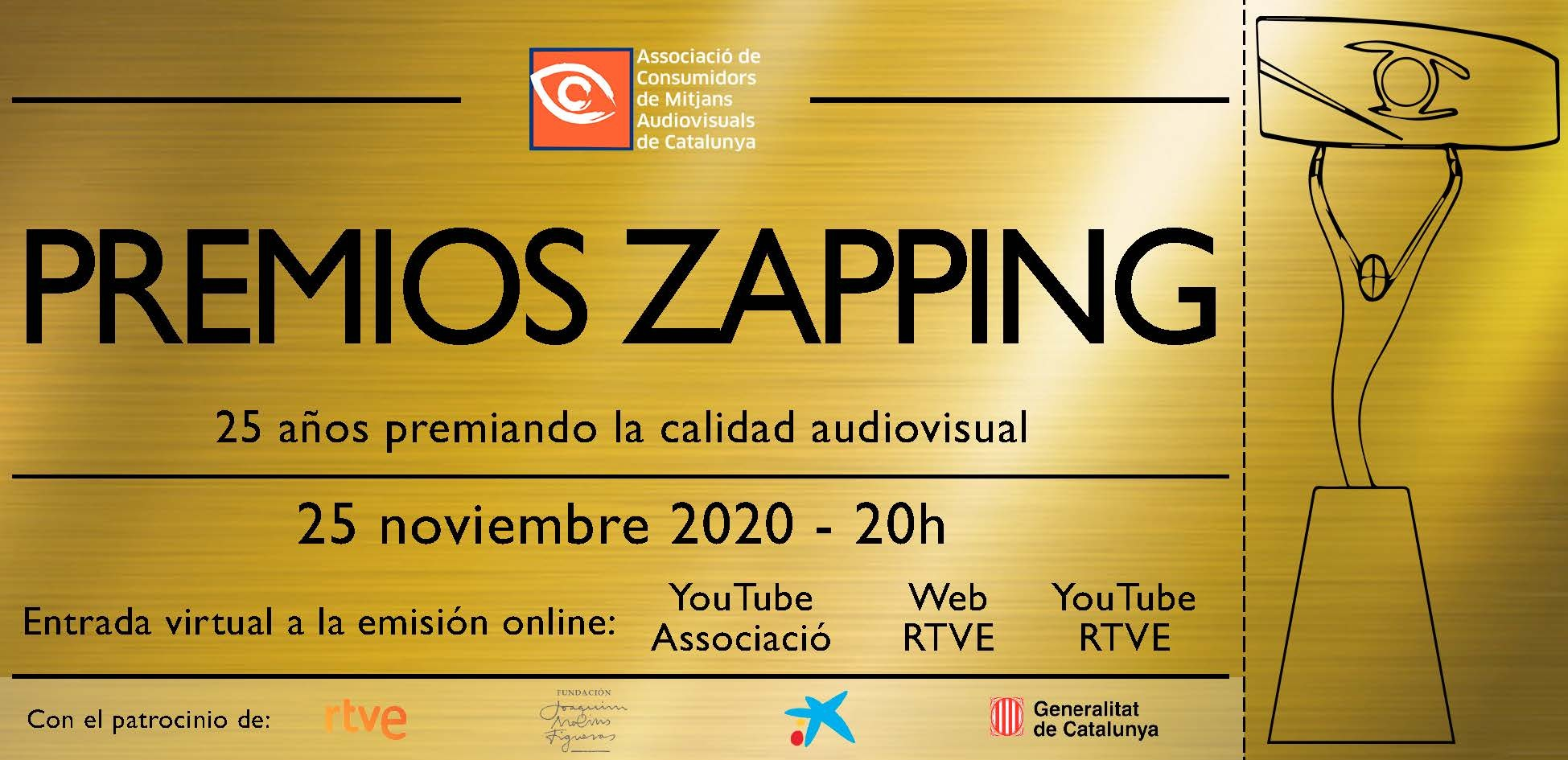 Flyer gala virtual Premios Zapping