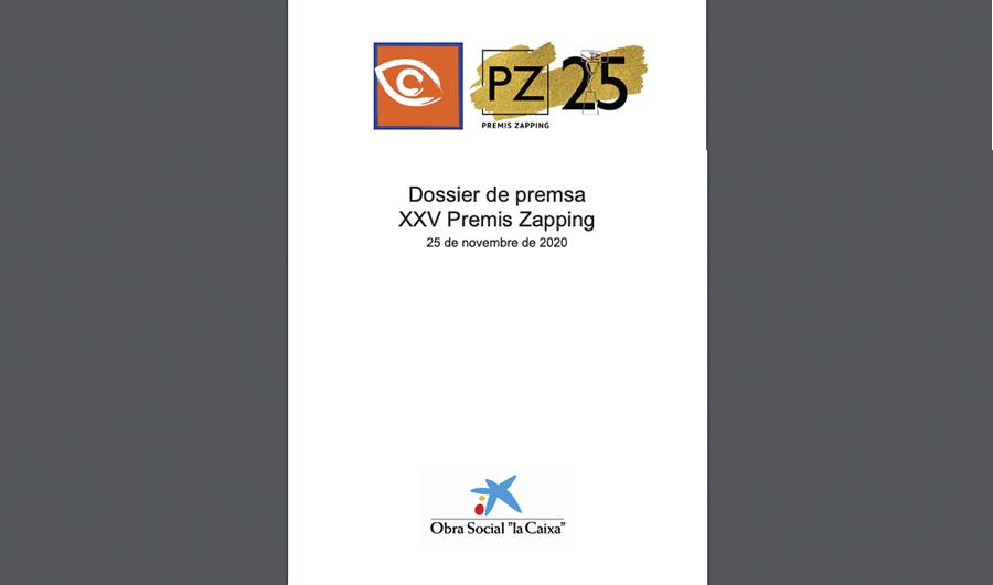 Accede al Dosier de Prensa de la 25 Edición de los Premios Zapping
